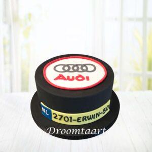 Droomtaart Auto logo taart Audi