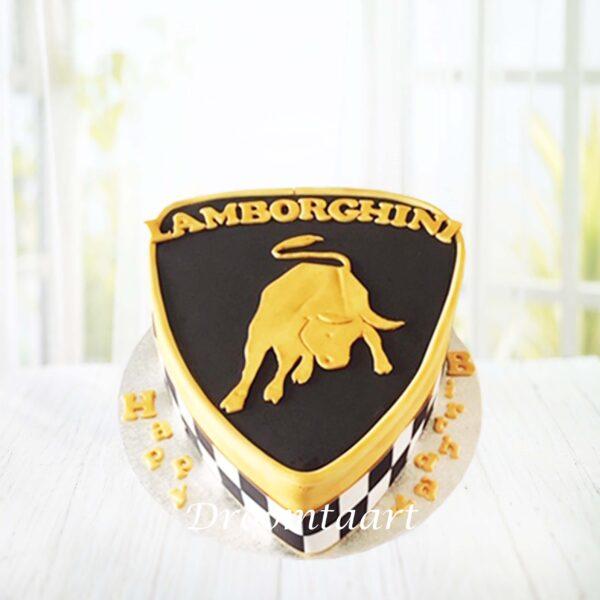 Droomtaart Auto logo taart Lamborghini