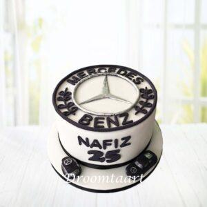 Droomtaart Auto logo taart Mercedes