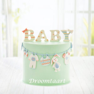 Droomtaart BABY taart geboorte babyshower gender reveal