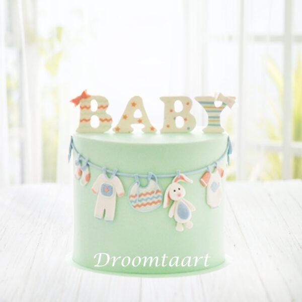 Droomtaart BABY taart geboorte babyshower gender reveal