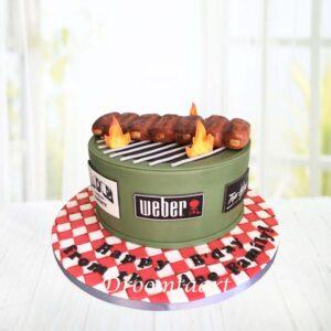 Droomtaart BBQ taart