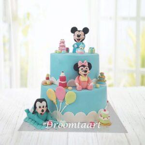 Droomtaart Disney Baby Mickey taart 1