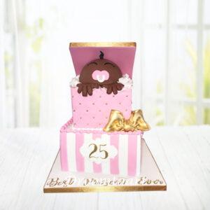 Droomtaart Baby cadeau taart geboorte babyshower gender reveal