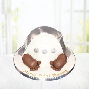 Droomtaart Babybillen taart 2 geboorte babyshower gender reveal