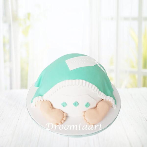 Droomtaart Babybillen taart geboorte babyshower gender reveal