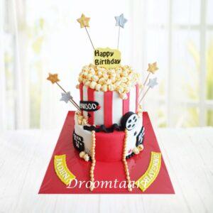 Droomtaart Bioscoop popcorn film taart