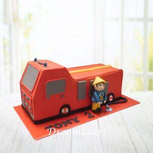 Droomtaart Brandweerauto taart 3D 2