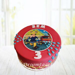Droomtaart Brandweerman Sam taart 3