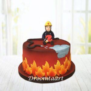 Droomtaart Brandweerman Sam taart 4