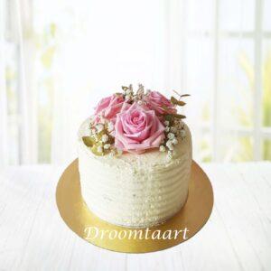 Droomtaart Bruidstaart botercreme met rozen 1