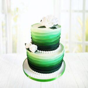 Droomtaart Bruidstaart groen