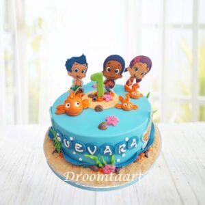 Droomtaart Bubble Guppies taart