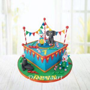 Droomtaart Circus taart