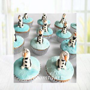 Droomtaart Cupcakes Olaf Frozen