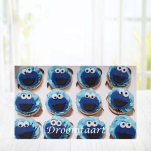 Droomtaart Cupcakes Sesamstraat Koekiemonster
