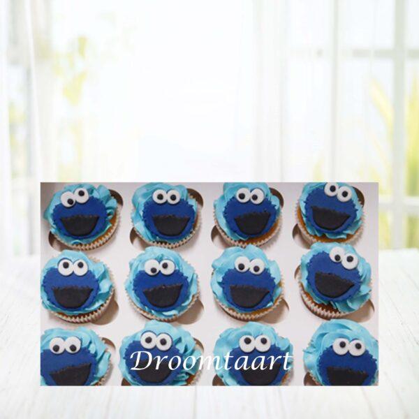 Cupcakes Sesamstraat Koekiemonster