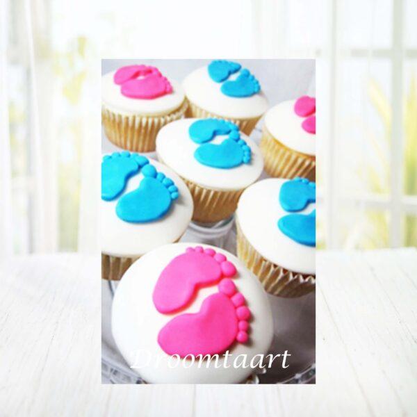 Droomtaart Cupcakes babyvoetjes