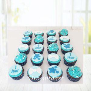 Droomtaart Cupcakes blauw jongen 2