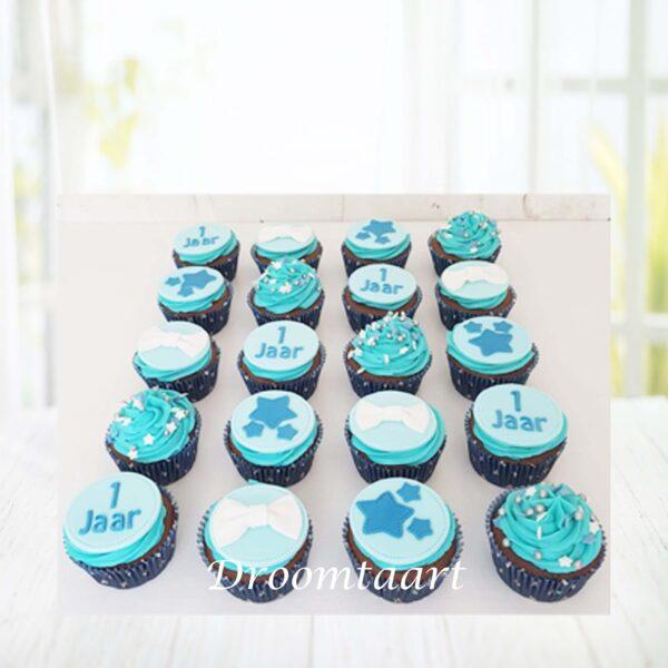 DroomtaartCupcakesblauwjongen