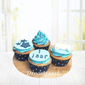 Droomtaart Cupcakes blauw jongen
