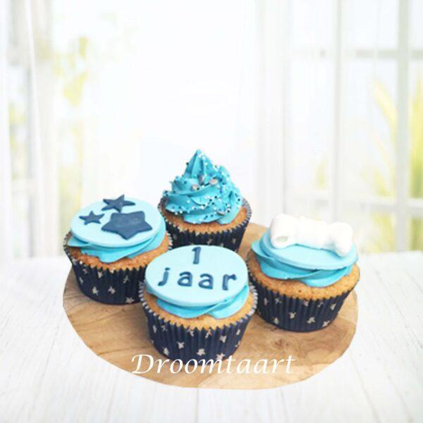 Cupcakes blauw jongen