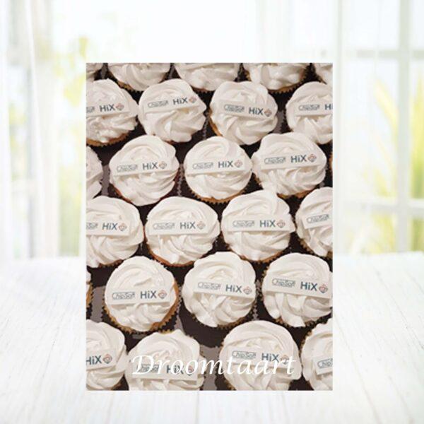 Droomtaart Cupcakes met logo rechthoek