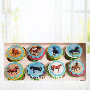 Droomtaart Cupcakes paarden