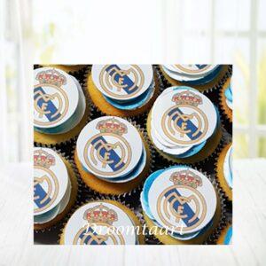 Droomtaart Cupcakes voetbal Real Madrid