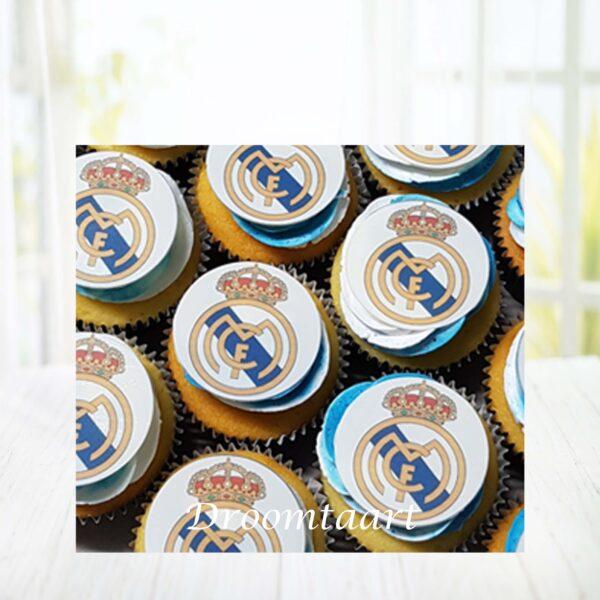 Cupcakes voetbal Real Madrid
