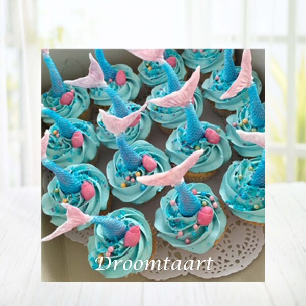 Cupcakes zeemeermin