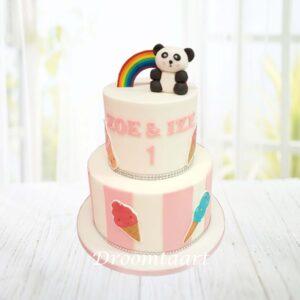 Droomtaart Dieren taart Panda 4