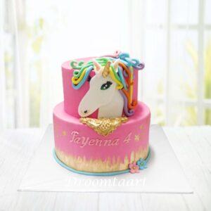 Droomtaart Dieren taart Unicorn 10