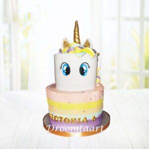 Droomtaart Dieren taart Unicorn 12