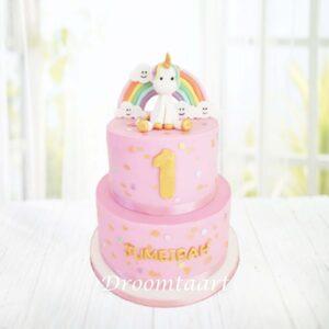 Droomtaart Dieren taart Unicorn 16