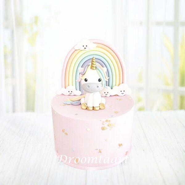 Dieren taart Unicorn 9