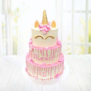 Droomtaart Dieren taart Unicorn drip cake