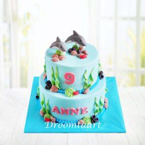Droomtaart Dieren taart dolfijnen