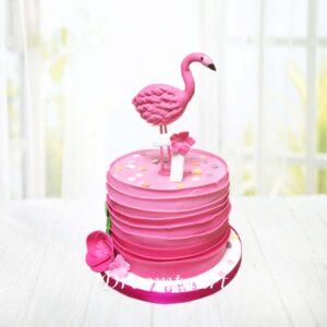 Droomtaart Dieren taart flamingo 1