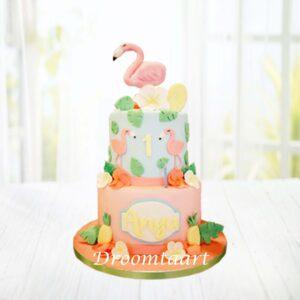 Droomtaart Dieren taart flamingo 4