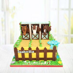 Droomtaart Dieren taart paard 4