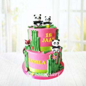 Droomtaart Dieren taart panda's
