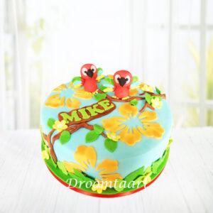Droomtaart Dieren taart papegaaien