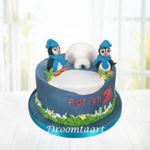 Droomtaart Dieren taart pinguïn 2