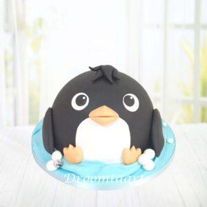 Droomtaart Dieren taart pinguïn
