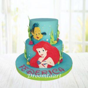 Droomtaart Disney Ariel de kleine zeemeermin taart 1