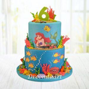 Droomtaart Disney Ariel de kleine zeemeermin taart 2