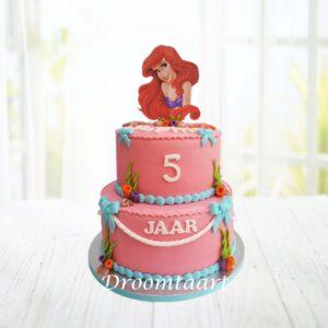 Droomtaart Disney Ariel de kleine zeemeermin taart 3