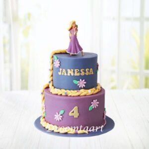 Droomtaart Disney Rapunzel taart 1