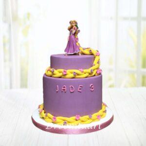 Droomtaart Disney Rapunzel taart 2